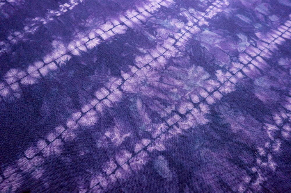 Ori-nui shibori -- running stitches made through two layers of pinched-together fabric