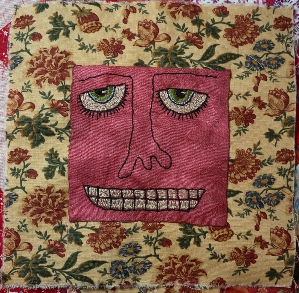 stitchingembroidery whimsical face