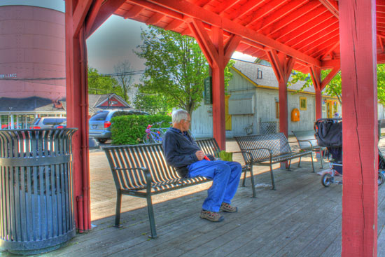 HDR photo: Jim at Pittsford Canal
